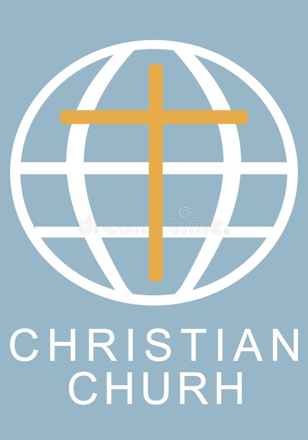 Ejemplo de una iglesia cristiana, el planeta fotografía de archivo libre de regalías