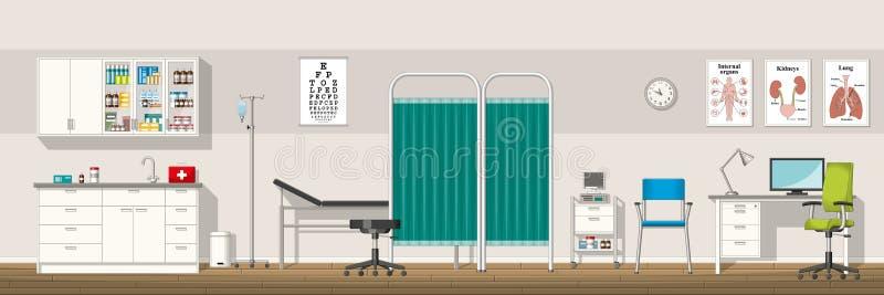 Ejemplo de una oficina del doctor libre illustration