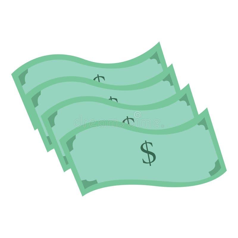 Ejemplo de una pila de dólares Ejemplo del dólar ilustración del vector