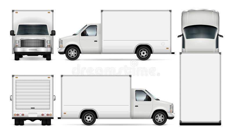 Ejemplo de van vector del cargo ilustración del vector