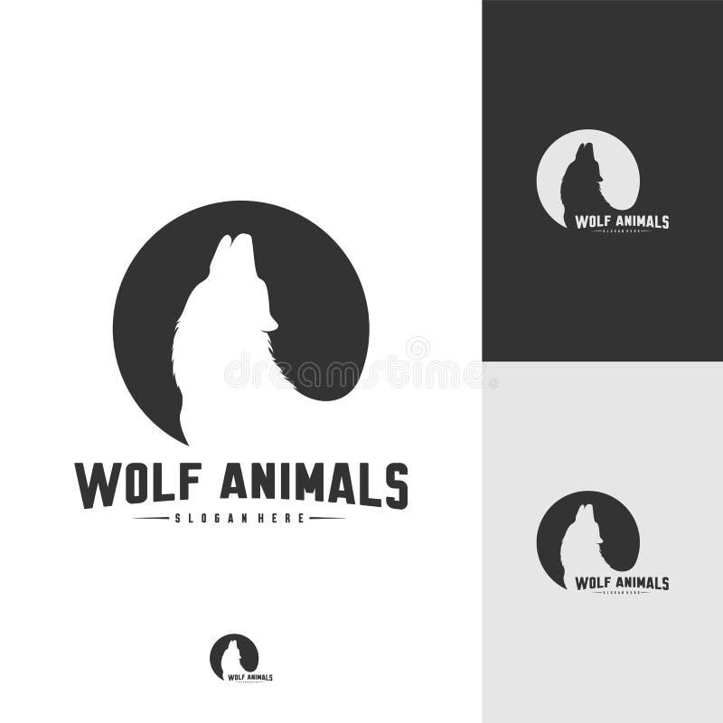 Ejemplo de Wolf Abstract Logo Design Vector Wolf Logo Template Estilo plano simple S?mbolo del icono ilustración del vector