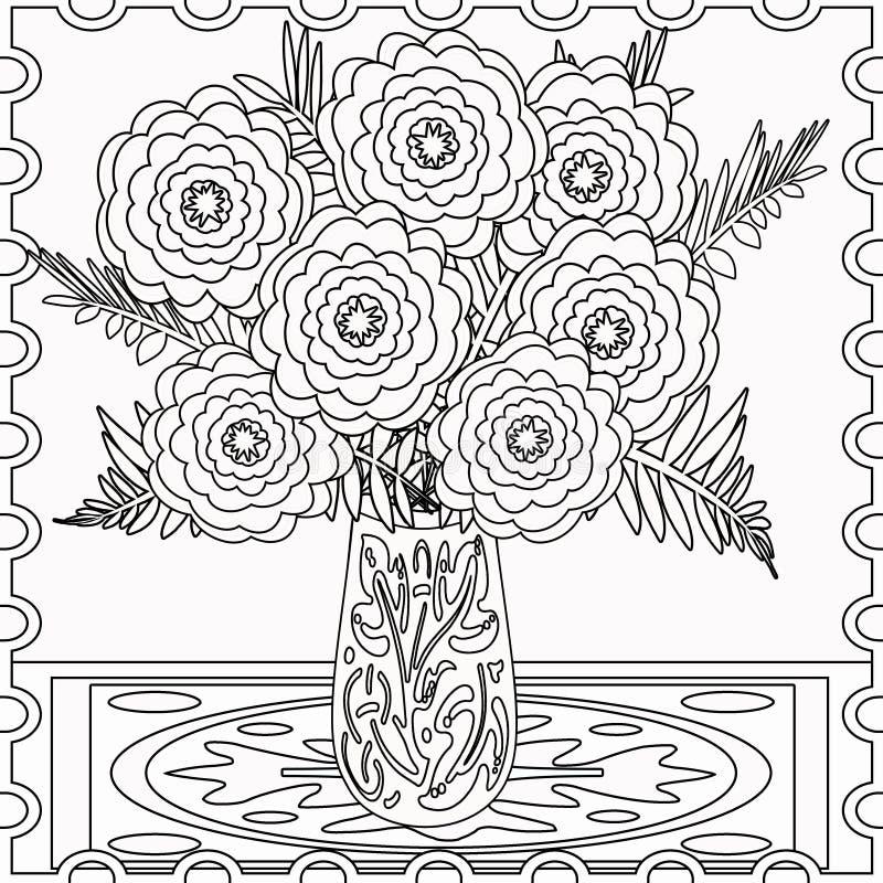 Ejemplo Decorativo Decorativo De Las Flores De Los Elementos De La ...