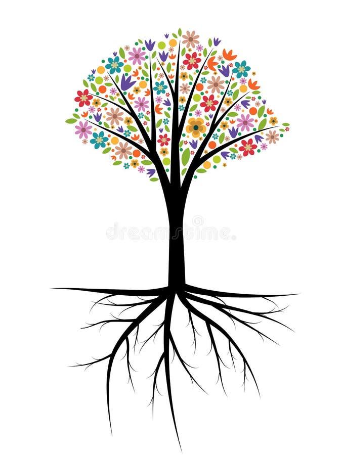 Ejemplo del árbol stock de ilustración