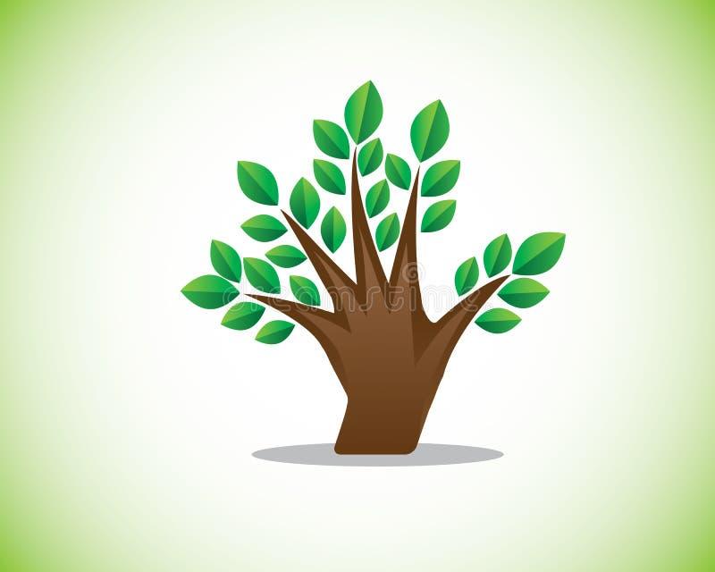 Ejemplo del árbol del finger libre illustration