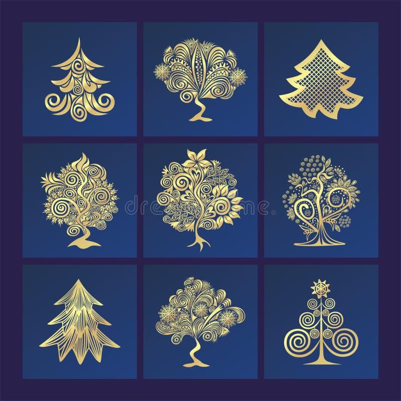 Ejemplo del árbol del invierno ilustración del vector