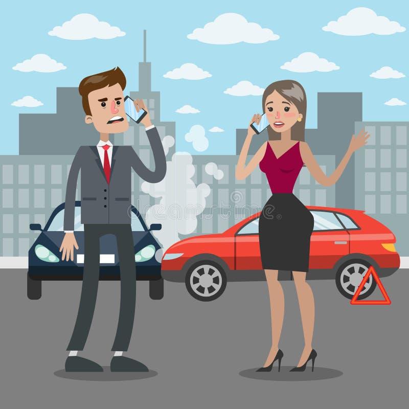 Ejemplo del accidente de tráfico libre illustration
