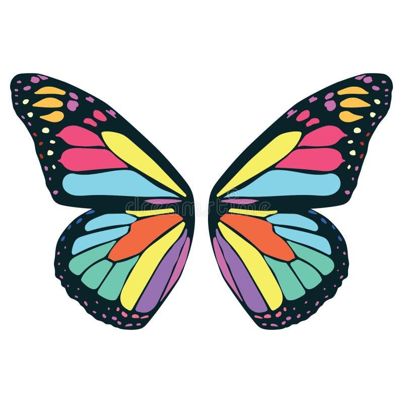 Ejemplo del ala de la mariposa por los crafteroks stock de ilustración