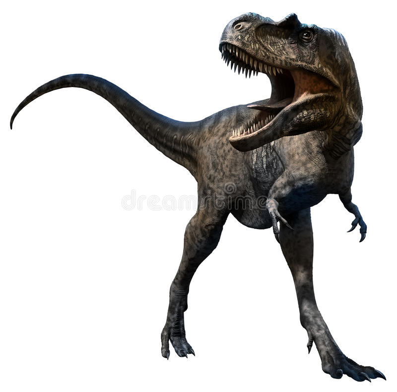 Ejemplo del Albertosaurus 3D stock de ilustración