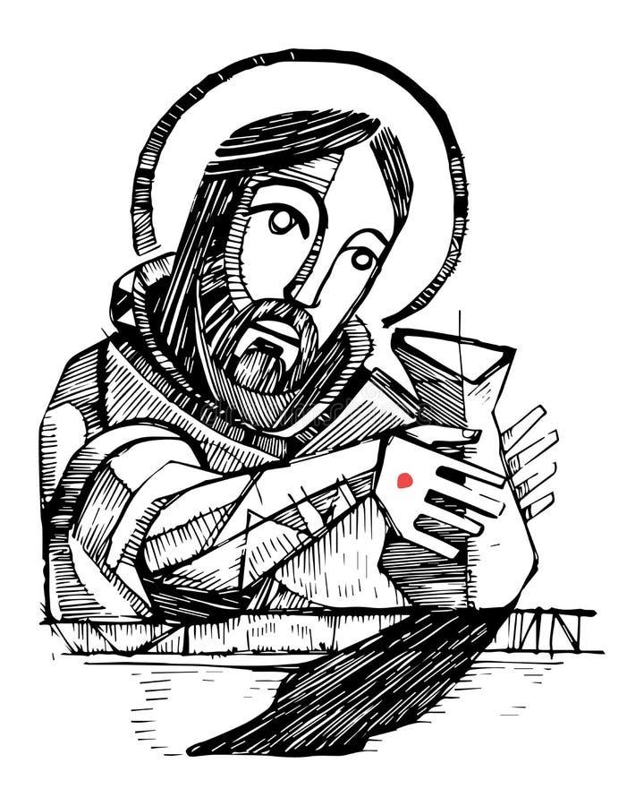 Ejemplo del alfarero de Jesus Christ ilustración del vector