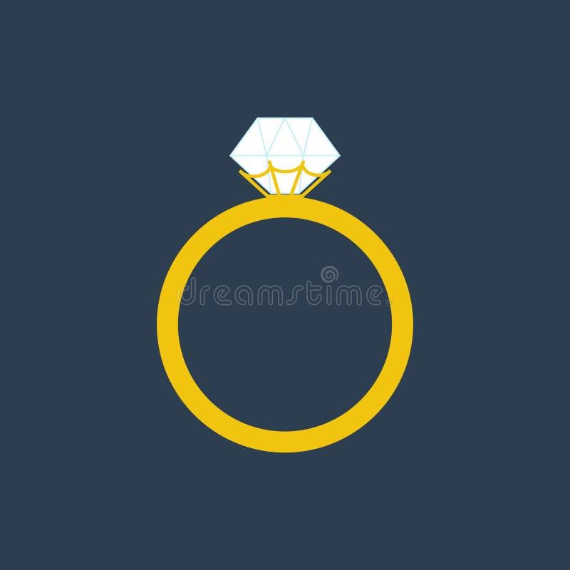 Ejemplo del anillo de compromiso stock de ilustración
