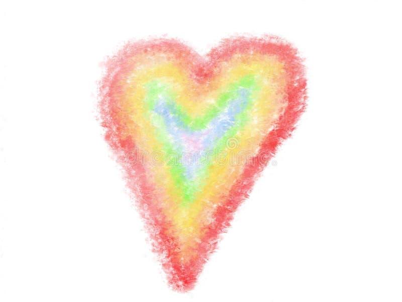 Ejemplo del arco iris del corazón del amor libre illustration