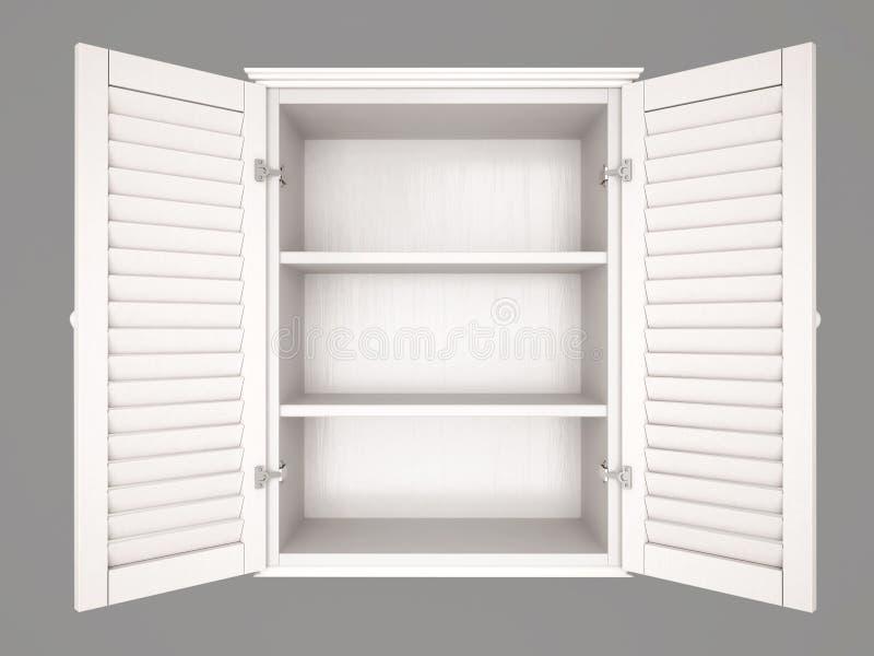 Ejemplo del armario vacío stock de ilustración