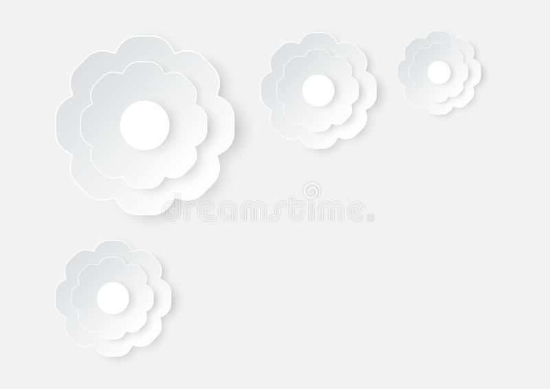 Ejemplo del arte de la flor de corte del Libro Blanco en fondo de la textura del Libro Blanco libre illustration