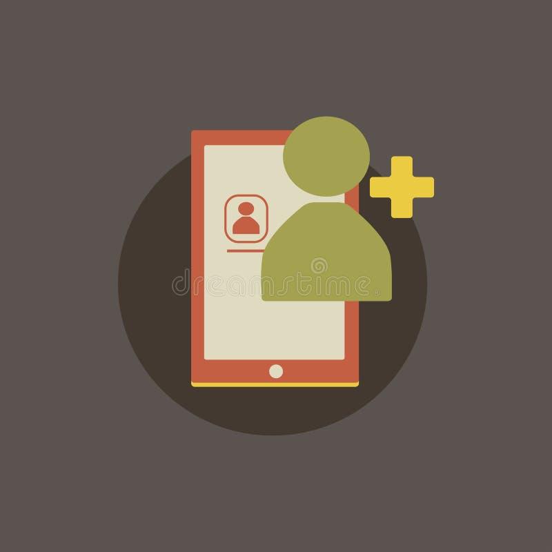 Ejemplo del avatar de la petición del amigo ilustración del vector