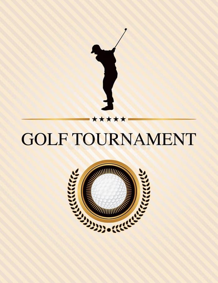 Ejemplo del aviador del evento del torneo del golf stock de ilustración