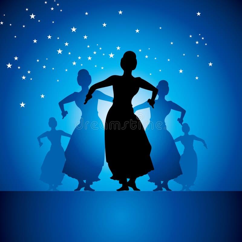 Ejemplo del bailarín clásico indio libre illustration