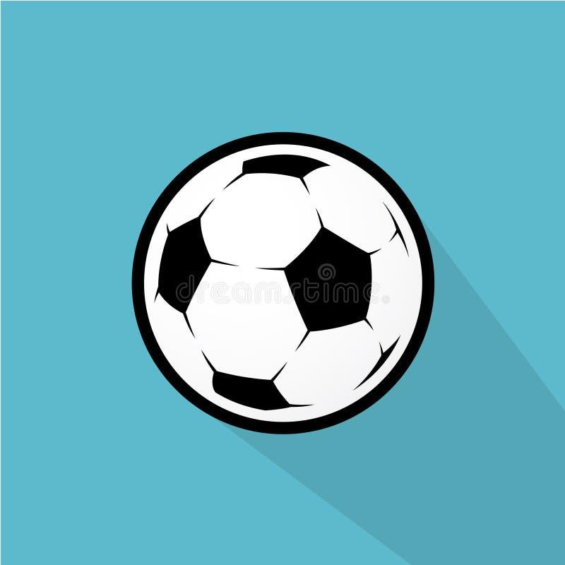 Ejemplo del balón de fútbol ilustración del vector