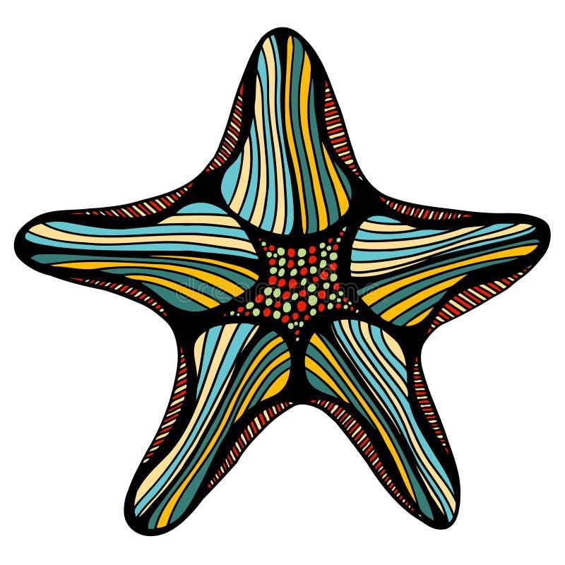 Ejemplo del bosquejo de estrellas de mar libre illustration