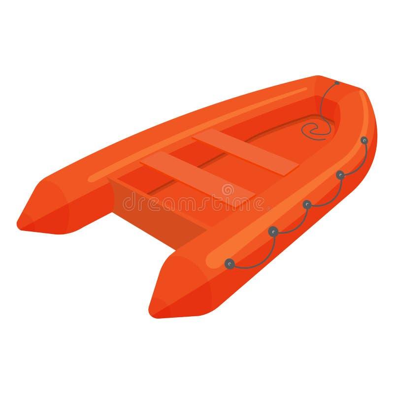 ejemplo del bote de salvamento aislado en el fondo blanco ilustración del vector