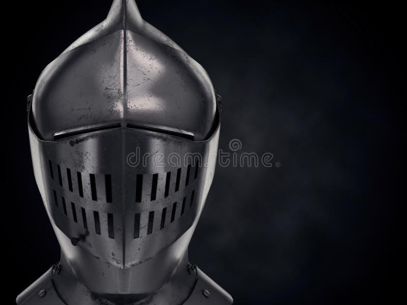 Ejemplo del caballero medieval Armet Helmet libre illustration