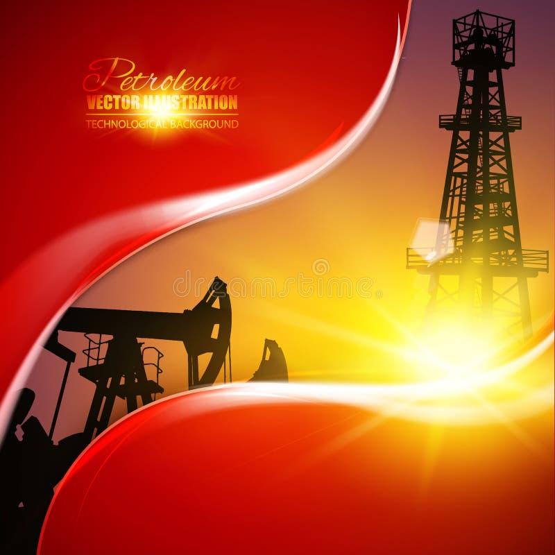 Ejemplo del campo petrolífero stock de ilustración