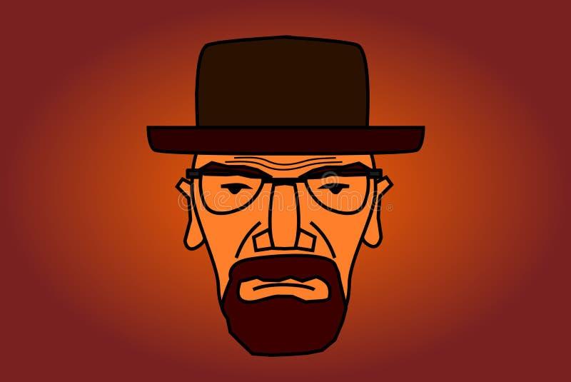 Ejemplo del carácter de Heisenberg stock de ilustración