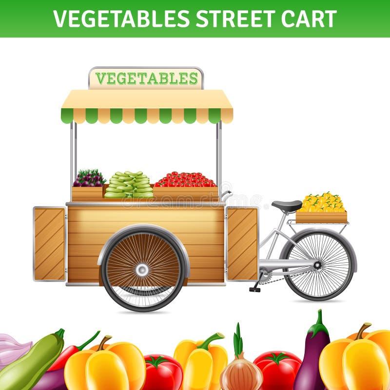 Ejemplo del carro de la calle de las verduras libre illustration