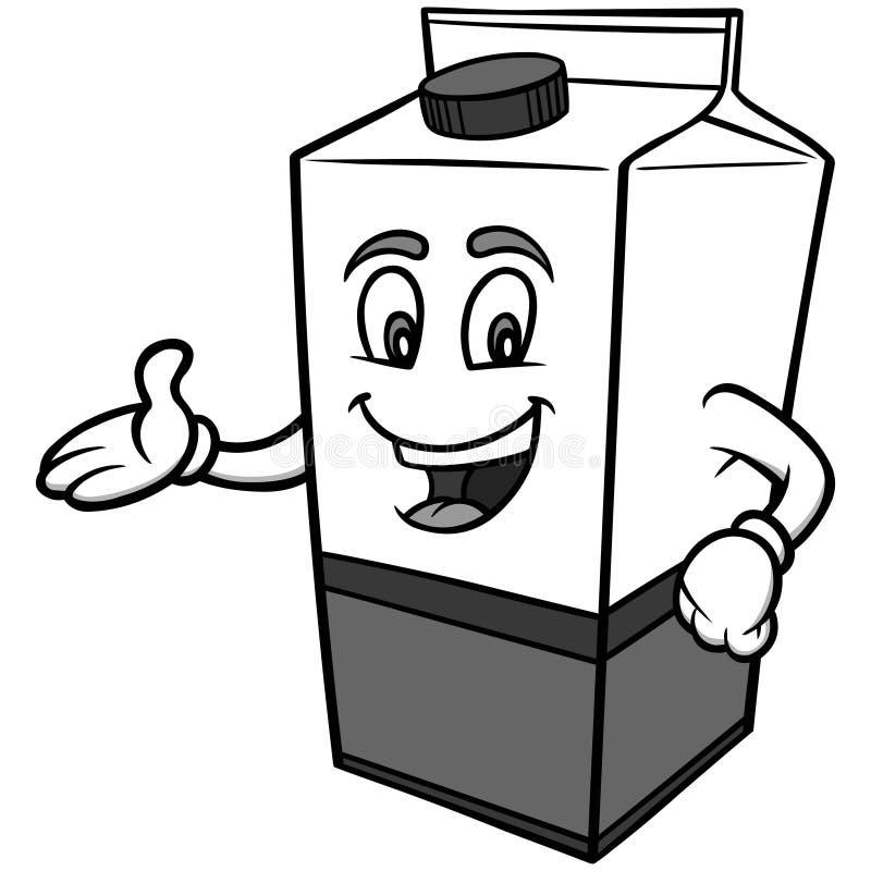 Ejemplo del cartón de la leche stock de ilustración
