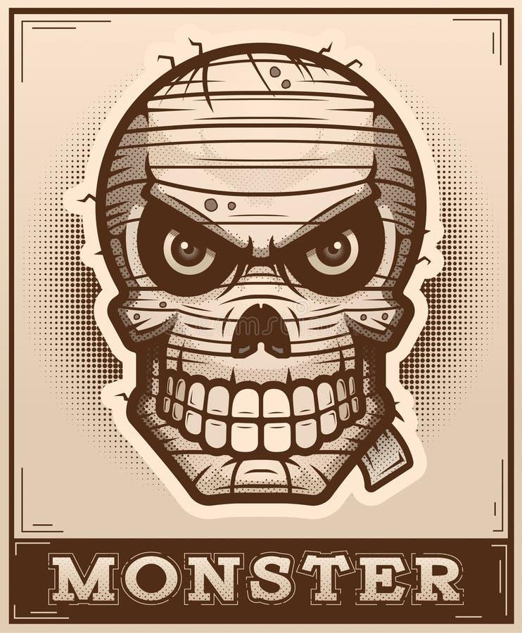 Ejemplo del cartel de la momia libre illustration