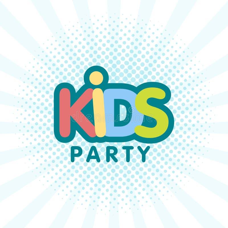Ejemplo del cartel de la muestra de la letra del partido de los niños libre illustration