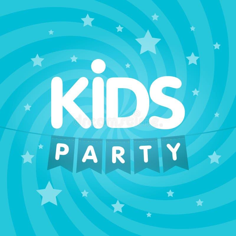 Ejemplo del cartel de la muestra de la letra del partido de los niños stock de ilustración