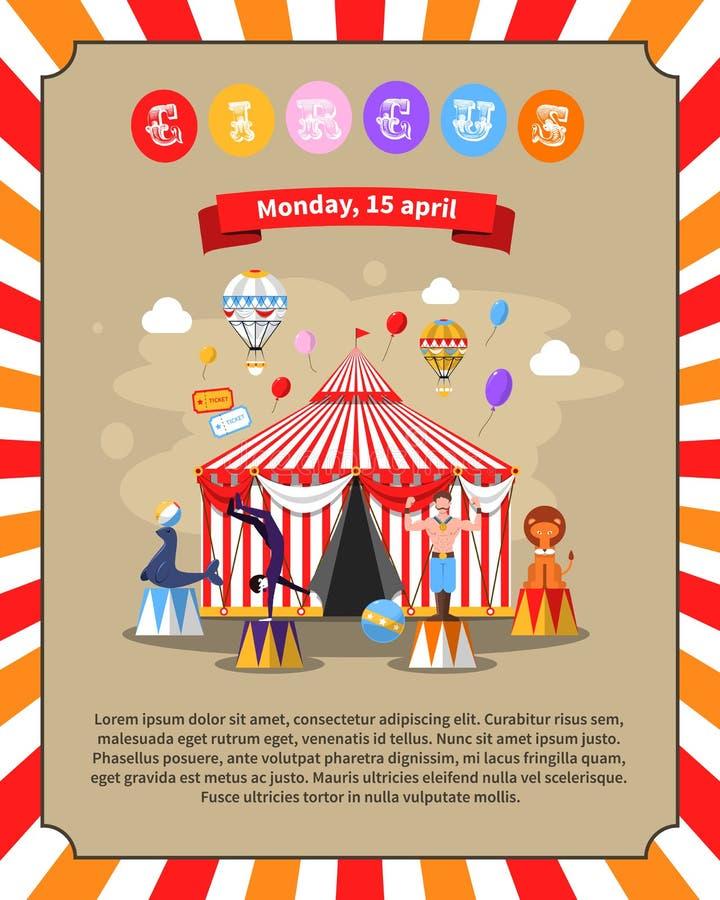 Ejemplo del cartel del circo stock de ilustración
