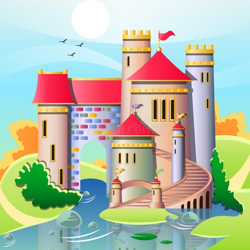 Ejemplo del castillos lindos stock de ilustración