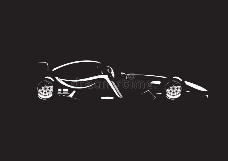Ejemplo del coche de fórmula ilustración del vector