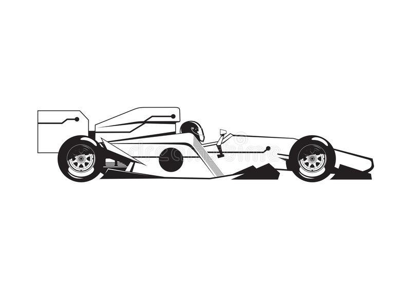 Ejemplo del coche de fórmula stock de ilustración