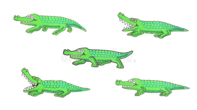 Ejemplo del cocodrilo que camina imagen de archivo