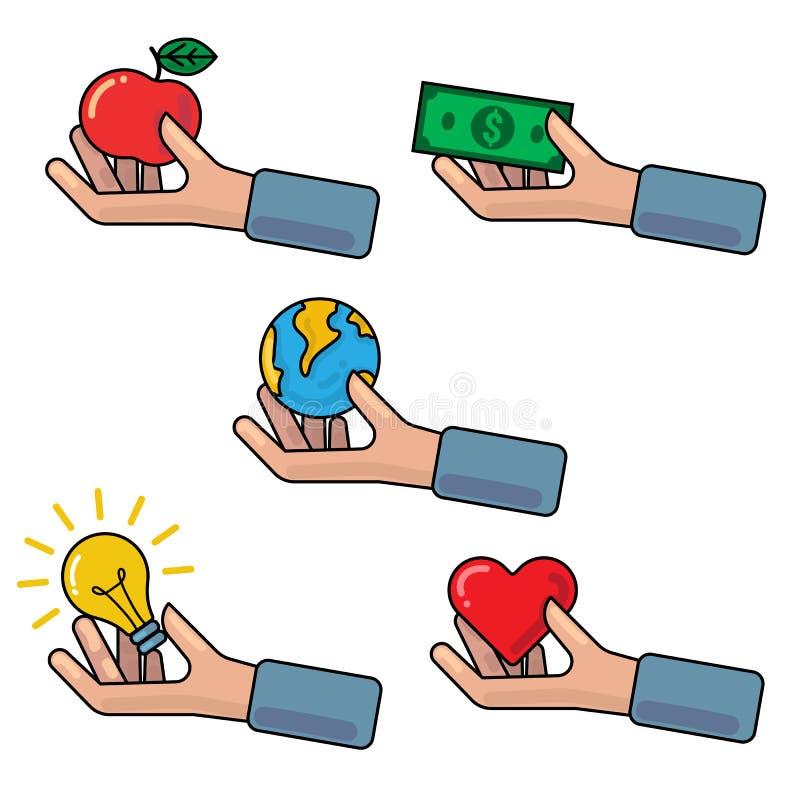 Ejemplo del concepto con las manos imágenes de archivo libres de regalías