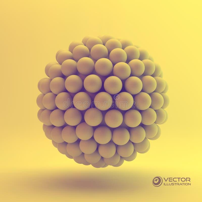 ejemplo del concepto 3D ilustración del vector