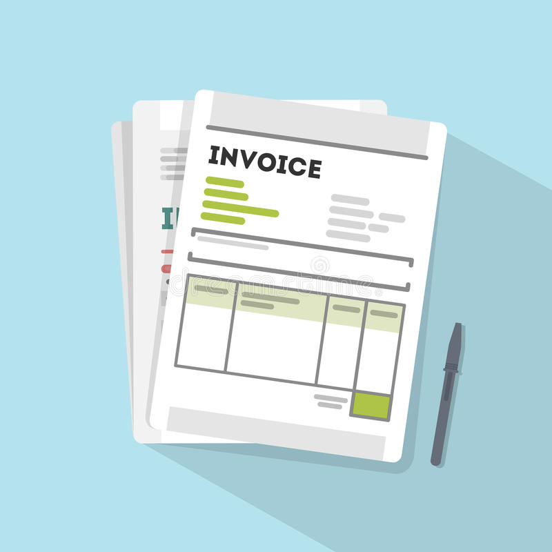 Ejemplo del concepto de la factura libre illustration