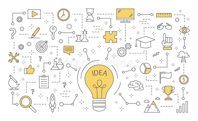 Ejemplo del concepto de la idea libre illustration