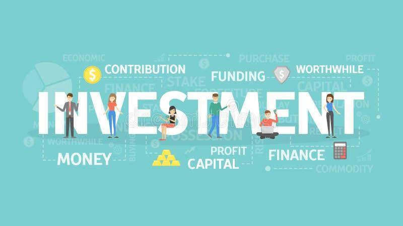 Ejemplo del concepto de la inversión stock de ilustración