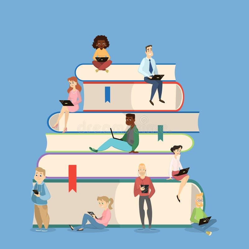 Ejemplo del concepto de la lectura libre illustration