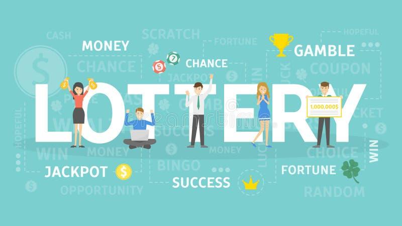 Ejemplo del concepto de la lotería libre illustration