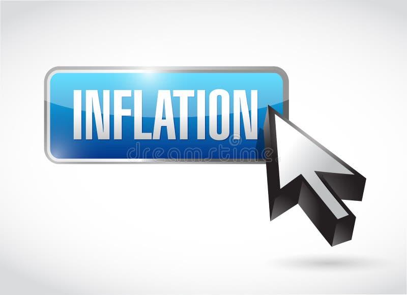 ejemplo del concepto de la muestra del botón de la inflación libre illustration