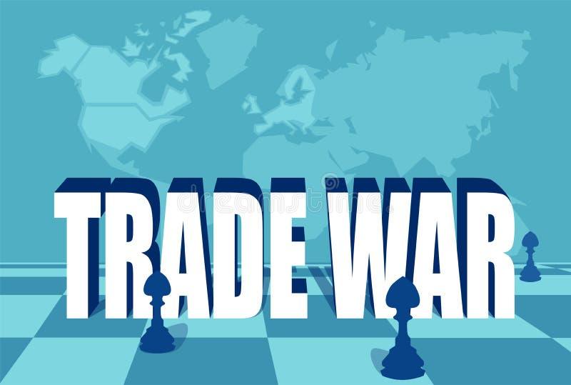 Ejemplo del concepto de las importaciones de la guerra comercial y de la limitación libre illustration