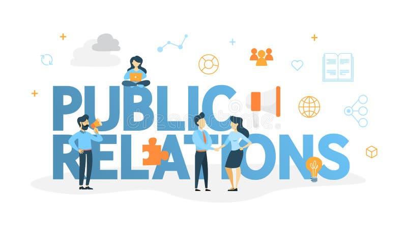 Ejemplo del concepto de las relaciones públicas libre illustration