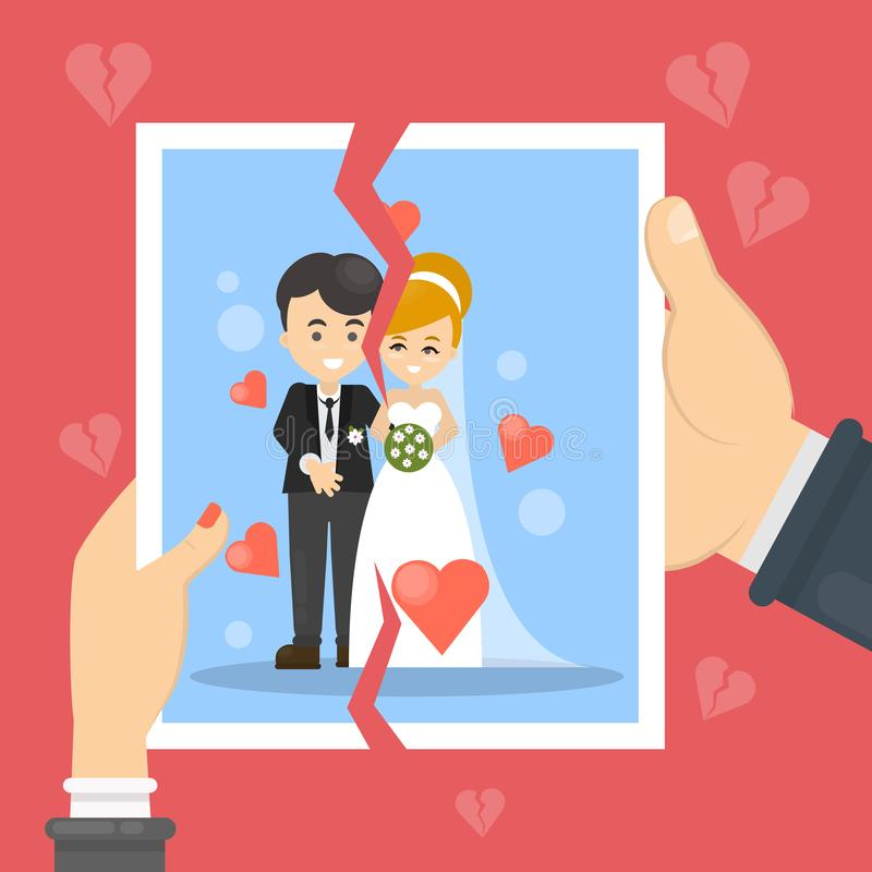 Ejemplo del concepto del divorcio libre illustration