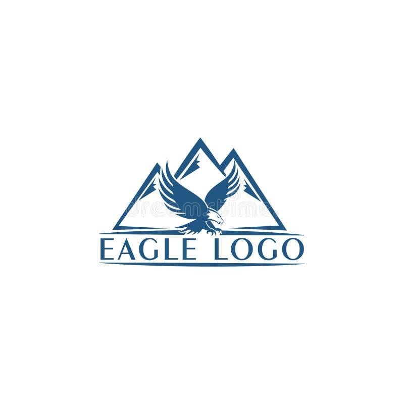 Ejemplo del concepto del icono del logotipo de Eagle Mountain Vector Logotipo del pájaro Logotipo de Eagle Elemento abstracto del stock de ilustración