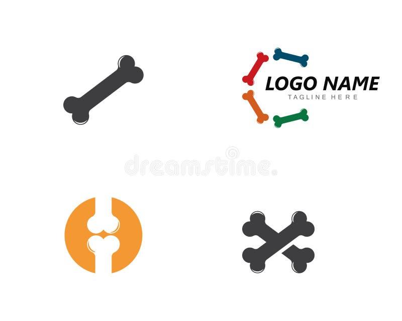 Ejemplo del concepto del logotipo del hueso stock de ilustración