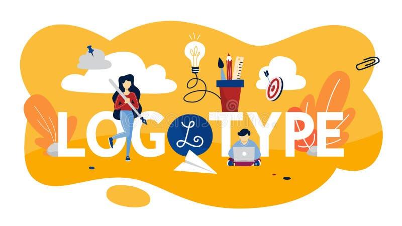 Ejemplo del concepto del logotipo Marca única de compañía libre illustration